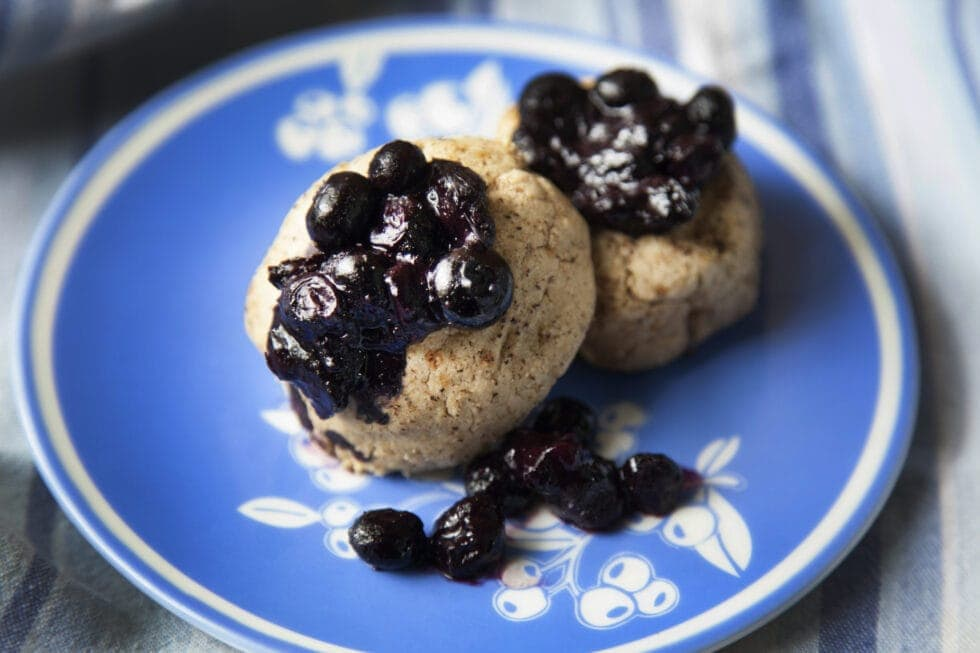 Scones with Blueberry or Cream Topping Recipe- For Those With Mast Cell Activation Syndrome or Histamine Intolerance