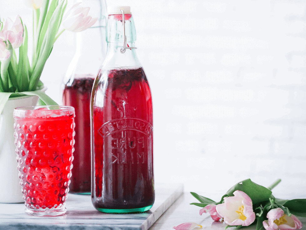 Low Histamine Iced Hibiscus Tea for those with Mast Cell Activation Syndrome or Histamine Intolerance