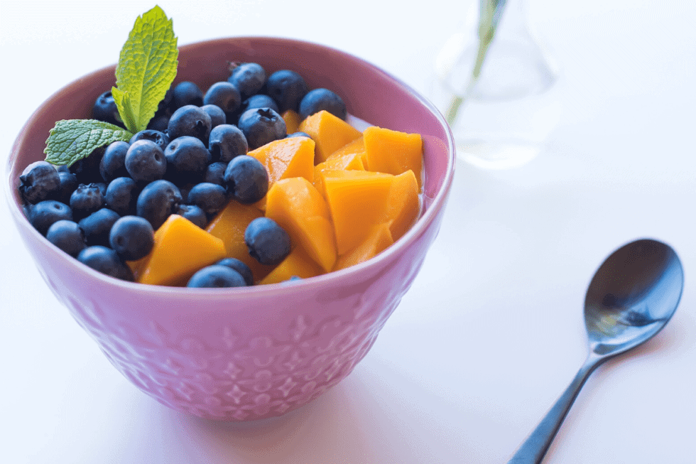 Low Histamine Mango Blueberry Basil Salad Recipe (also Low Oxalate, Low Lectin)