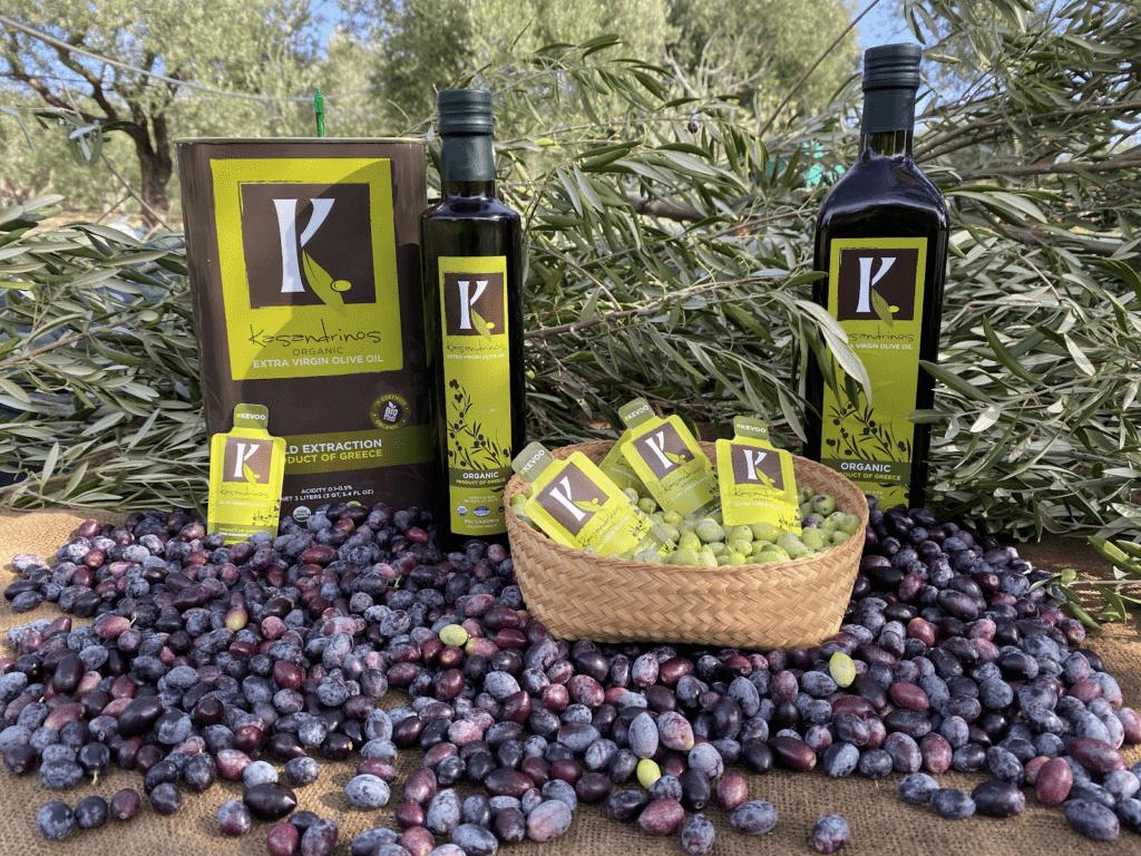 Kasandrinos Olive Oil and olives